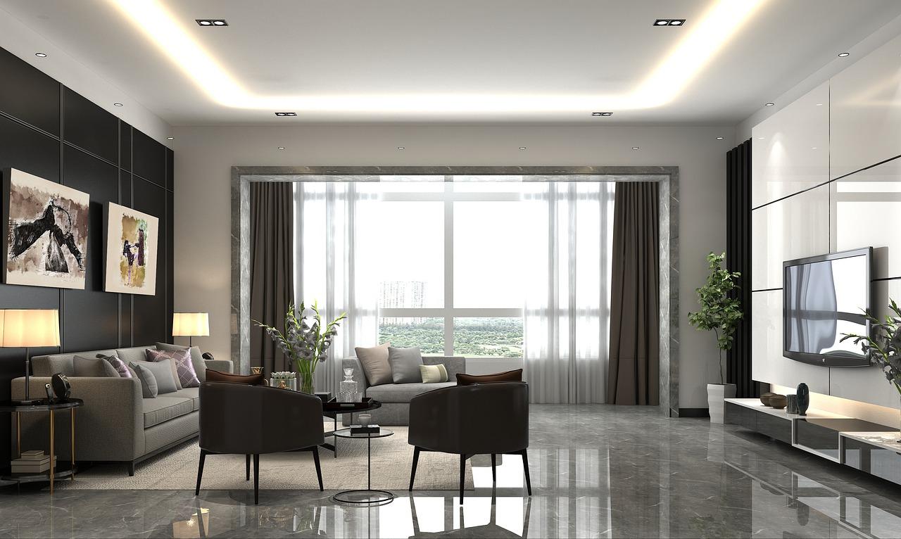wall art ina modern living room